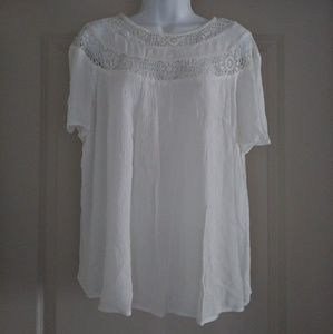 White flowy shirt